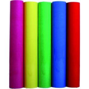 95592C - Rouleau de film fleuriste polypro transparent couleur, 35µ, 2m x 0,70m, coloris assortis 5 teintes (classique)