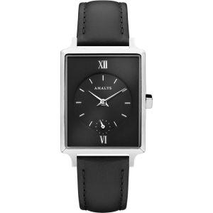 Montre Amalys LIV - Montre Cuir Noir Femme