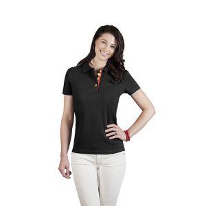 Polo femme Fan Belgique, XL, noir