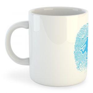 Tasse Football Fingerprint - White - Taille 325 ml (11 oz)