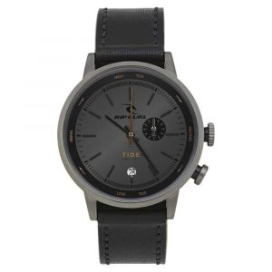 Rip Curl Drake Tide Dial Leather One Size Black - Black - One Size