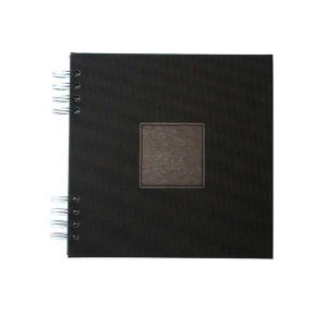 Album photo à spirale Jaipur Fuchsia 35x28cm - 30 feuillets noirs 250gr - F022013