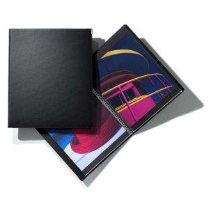 Book à spirale CLASSIC + 10 pochettes polyester - 24x32cm