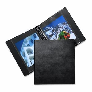 Classeur à anneaux CLASSIC + 10 pochettes Cristal Laser - 30x42cm