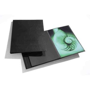 Book à spirale MODEBOOK format Portrait + 10 pochettes Polyester - 28x35cm