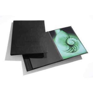 Book rechargeable à spirale MODEBOOK Portrait + 10 pochettes polyester - 30x42cm