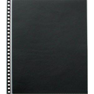 10 pochettes multi-perforées en polypropylène Cristal Laser avec feuillets noirs - 51x65cm