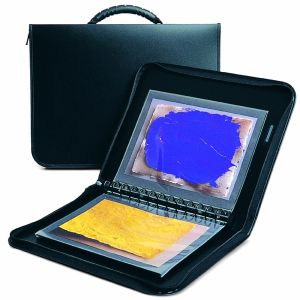 Press-book à anneaux RUN A4+ + 10 pochettes Cristal Laser - 24x32cm