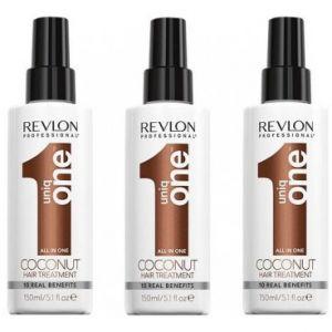 Pack 3 Sprays Uniq One Coconut Revlon 150 ML