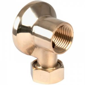 Applique laiton poli - F1/2' - Tube Ø 14 mm - Codital