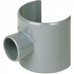 Selle de raccordement PVC gris - Femelle Ø 100 - 32 mm - Girpi