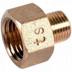 Raccord laiton hexagonal réduit à visser - M 1/2' - F 3/4' - 246G - Thermador