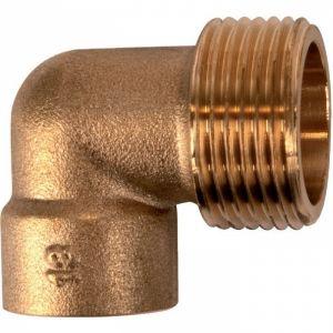 Raccord laiton coudé 90° à souder - M 3/4' - Ø 22 mm - 92GC - Thermador