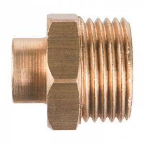 Raccord laiton droit à souder - M 1' - Ø 22 mm - 243GC - Thermador