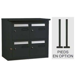 Bloc boîte aux lettres collective extérieur - B4 sur pieds - Languedoc standard - Gris anthracite (Couleur) - Decayeux