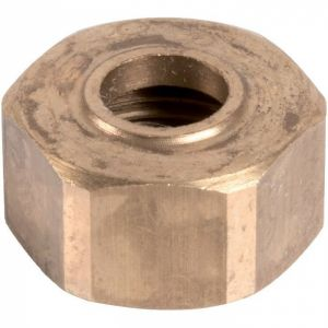 Écrou laiton hexagonal à visser - F 1/2' - Ø 14 mm - Hecapo