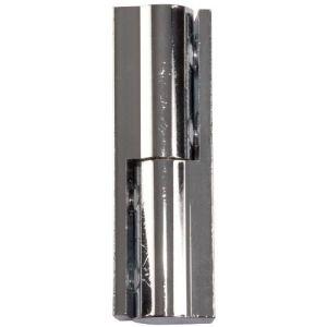 Paumelle universelle ronde chromée - 50 mm - Sélection Cazabox