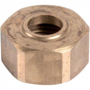 Écrou laiton hexagonal à visser - F 1/2' - Ø 12 mm - Hecapo