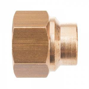 Raccord laiton droit à souder - F 1/2' - Ø 22 mm - Sobime