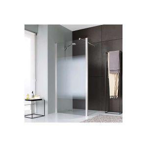 Paroi de douche fixe ouverte verre dépoli dégradé - 90 cm - Jazz Plus - Leda
