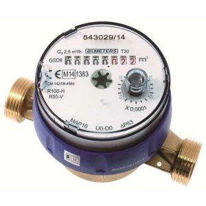 Compteur d'eau divisionnaire eau froide pour télérelevage - MM 3/4' - Sféraco