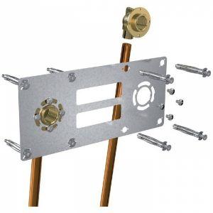 Sortie de cloison double à souder - Entraxe 150 mm - Cuivre Ø 14 mm - F 1/2' - Robifix - Watts industries