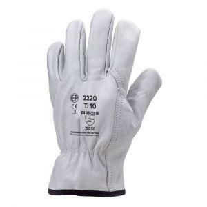 Gants de travail en cuir de vachette Eurotechnique 2220 (lot de 10 paires de gants)