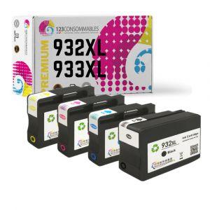 Pack générique 4 cartouches HP 932XL/933XL