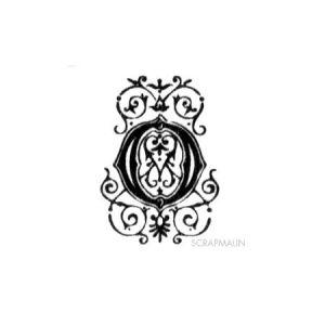 Tampon bois - Alphabet arabesque O - 2,3 x 1,8 cm