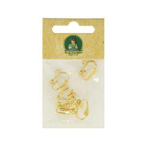 Boucles d'oreilles clips à suspendre - Or - 15 x 8 mm