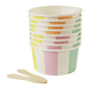 Pots pour glace - 8 pcs