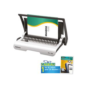 Perforelieur Fellowes Star+150 + 1 kit de reliure pour 20 documents offert