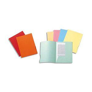 Chemise 2 rabats Exacompta Super 250 - carte 210 g - 24 x 32 cm - vert clair - paquet de 50