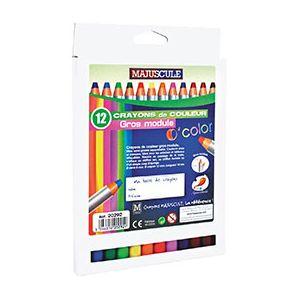 Crayons de couleurs - gros module 8mm - boîte de 12