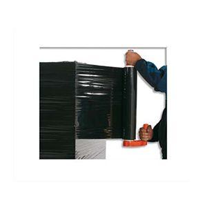 Film étirable manuel noir opaque anti UV - 17 microns - 300 m x 450 mm