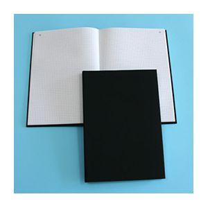 Registre toilé folioté 1 à 300 - format 32x25 cm - 300 pages quadrillé 5x5 - coloris noir