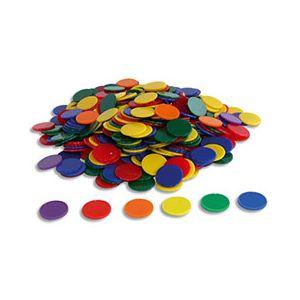 Lot de 500 jetons en plastique, 6 couleurs assorties