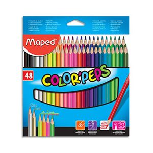 Crayons de couleur Maped Color'Peps - pochette de 48