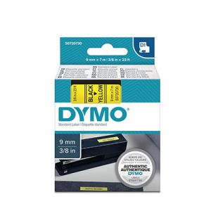 Ruban Dymo D1 - 40918 - Ruban noir/jaune - 9 mm x 7 m