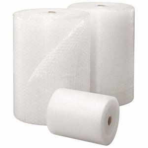 Rouleau à bulles transparent - en polyéthylène et nylon - H1 x L100 m - 60 microns