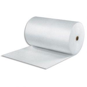 Rouleau à bulles transparent - en polyéthylène et nylon - H1,5 x L100 m - 60 microns