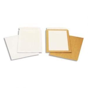 Pochettes blanches auto-adhésives dos cartonné - 250 x 353 mm - 120g - boîte de 100