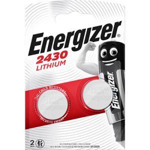 Pile bouton CR2430 Energizer - lithium - blister de 2 piles