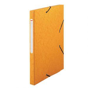 Chemise 3 rabats cartonnée Qualité Plus - jaune