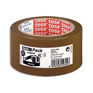 Ruban adhésif d'emballage Tesa - qualité supérieure - polypropylene havane - 60 microns - 50x66m