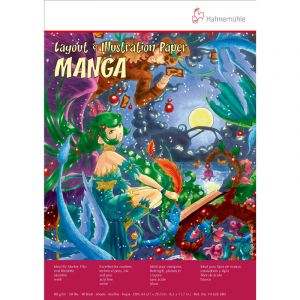 Bloc Manga, Layout et Illustration - 80 g/m², 21x29,7cm (A4), 40 feuilles