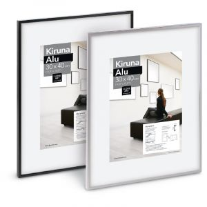 Cadres Kiruna Alu I Love Art (Exclusivité), 70 cm x 100 cm, Noir