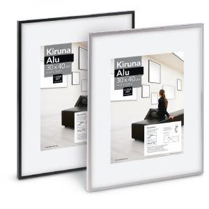 Cadres Kiruna Alu I Love Art (Exclusivité), 70 cm x 100 cm, Argent mat