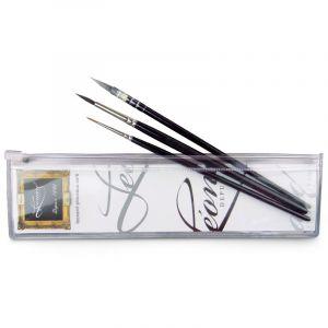 Trousse aquarelle Léonard de 3 pinceaux