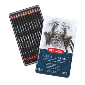 Coffret de Crayons Derwent Graphic, 12 crayons (4H à 6B)